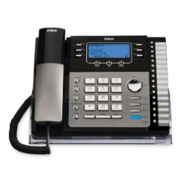 RCA ViSYS 25424RE1 Corded Phone - 4-line operation Black