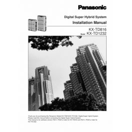Panasonic Programming Manual for KX-TD816
