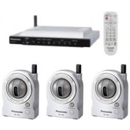 BL-MS103A Panasonic Internet Video Monitoring System w/ 3 Cameras TV-Adaptor Remote