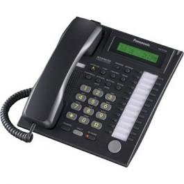 KX-T7731-B Panasonic Refurbished Advanced Hybrid Proprietary Telephone 1-Line Backlit LCD Speakerphone Black