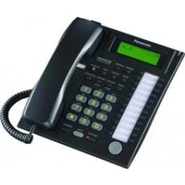 KX-T7736-B Panasonic Advanced Hybrid Proprietary Telephone 3-Line Backlit LCD Speakerphone KX-T7736B Black