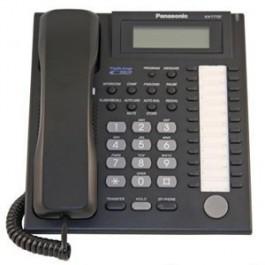 KX-T7737-B Panasonic Advanced Hybrid Proprietary Speakerphone 3-Line Backlit LCD Caller ID KX-T7737B