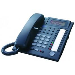 KX-T7737-B Panasonic Refurbished Advanced Hybrid Proprietary Telephone 3-Line Backlit LCD Talking Caller ID Speakerphone Black