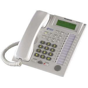 KX-T7737 Refurbished Panasonic Advanced Hybrid Proprietary Telephone 3-Line Backlit LCD Talking Caller ID Speakerphone White