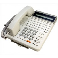 KX-T7130 Panasonic Refurbished Telephone with Speakerphone Wide LCD Display 12 CO Line Button White