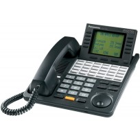 KX-T7456-B Panasonic Refurbished Digital 24 Button Speakerphone 6-Line Display KX-T7456B Black