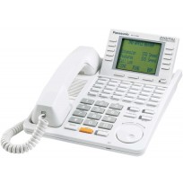 KX-T7456 Panasonic Refurbished Digital 24 Button Speakerphone 6-Line Display White