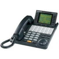 KX-T7456-B Panasonic Digital 24 Button Speakerphone 6-Line Display KX-T7456B Black