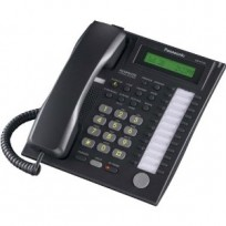 KX-T7730-B Panasonic Refurbished 12 Key 1 Line LCD Speakerphone Black