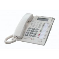 KX-T7735 Panasonic Refurbished 24 Key Handsfree Display Telephone with 3-Line Backlit LCD White
