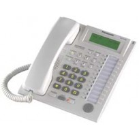 KX-T7735 Panasonic 24 Key Handsfree Display Telephone with 3-Line Backlit LCD White