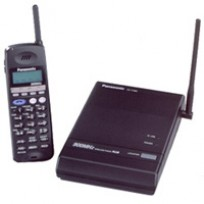 KX-T7885 Panasonic 900Mhz Wireless Telephone 3-Line Backlit LCD Display 12 CO Line Headset Jack