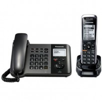 KX-TGP550T04 Panasonic SIP IP Expandable Cordless Phone System with Corded Handset Base Station and 1 Cordless Handset