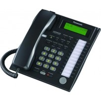 KX-T7736-B Panasonic Refurbished Advanced Hybrid Proprietary Telephone 3-Line Backlit LCD Speakerphone Black