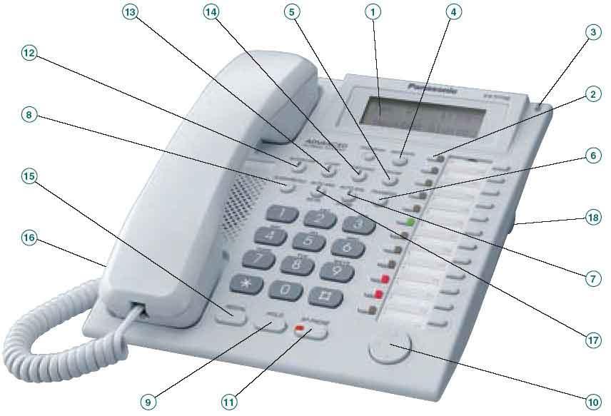 Kx T7730 Refurbished Panasonic 12 Key 1 Line Lcd