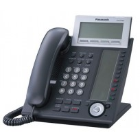 KX-NT366-B Panasonic Black IP Telephone with 48 Buttons Self Labeling, 6-Line Backlit LCD, Speakerphone, Power over Ethernet (PoE), Premium