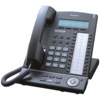 KX-T7633-B Panasonic Refurbished Digital Proprietary Telephone 3-Line Backlit LCD Speakerphone KX-T7633B Black