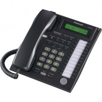 KX-T7731-B Panasonic Refurbished Advanced Hybrid Proprietary Telephone 1-Line Backlit LCD Speakerphone Black