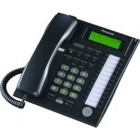 KX-T7736-B Panasonic Advanced Hybrid Proprietary Telephone 3-Line Backlit LCD Speakerphone KX-T7736B Black