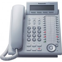 KX-NT343 Panasonic White IP Telephone with 24 Buttons, 3-Line Backlit LCD, Speakerphone, Power over Ethernet (PoE)