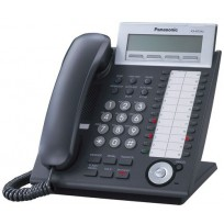 KX-NT343-B Panasonic Black IP Telephone with 24 Buttons, 3-Line Backlit LCD, Speakerphone, Power over Ethernet (PoE), Black